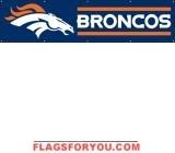 Broncos Banner 8' x 2'