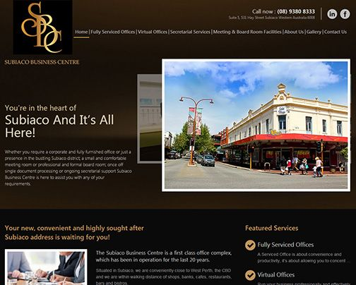Another website design and develop by Sushi Digital goes live today. The site is about Subiaco Business Center that offers virtual offices, secretarial services, office rental and more.. Call them at Call now : (08) 9380 8333
