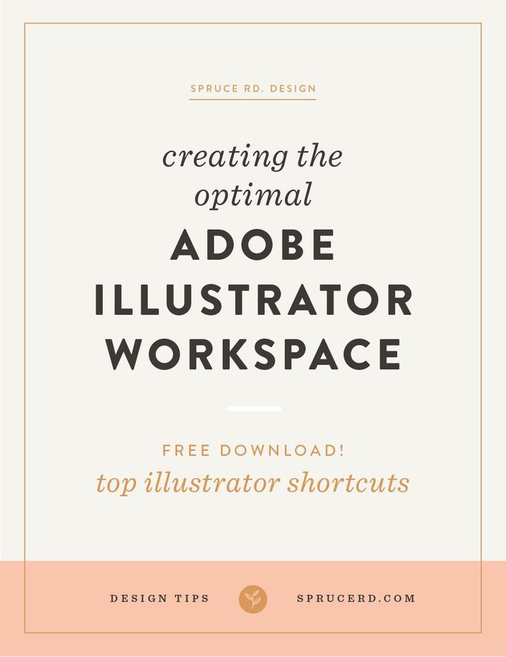 Creating the optimal Adobe Illustrator Workspace by Spruce Rd. | Since working in Adobe Illustrator for years, I've created systems + processes to improve efficiency. I'm always learning new tips + tricks, but have finally found a system to setting up my workspace, best suited to my daily routine. Hope these tips help you create an Illustrator template or document profile, to make designing in Illustrator easy.
