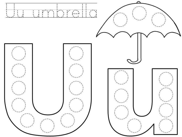 Do-a-dot-letter-u-printable