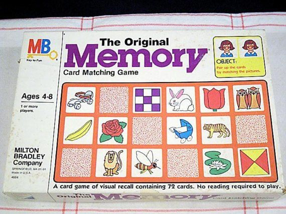 Memory my fav game.  My dad used to make me laugh so hard when we played this game together.