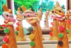 Smartie Crammed Clown Cones Photo : Jackie Cameron