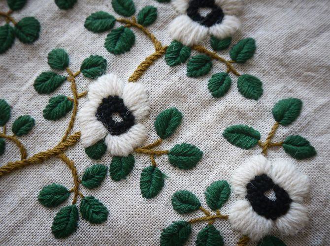 WoolFlower-Green.by yumiko higuchi