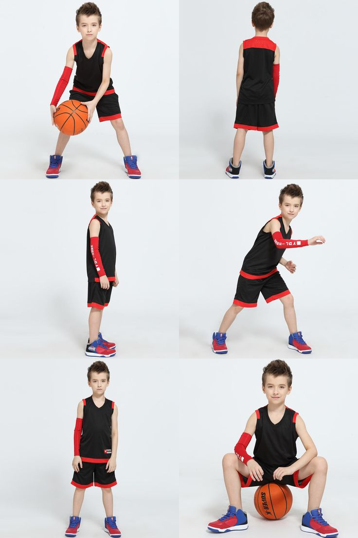 [Visit to Buy] 2017 Newest Boys Basketball Jerseys Vests Kits Girls Blank Design Space Jam Jersey Youth Kids Throwback Basketball Team Uniforms #Advertisement