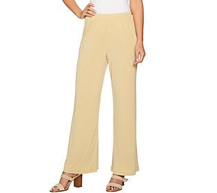 Joan Rivers Regular Length Pull-on Jersey Knit Palazzo Pants
