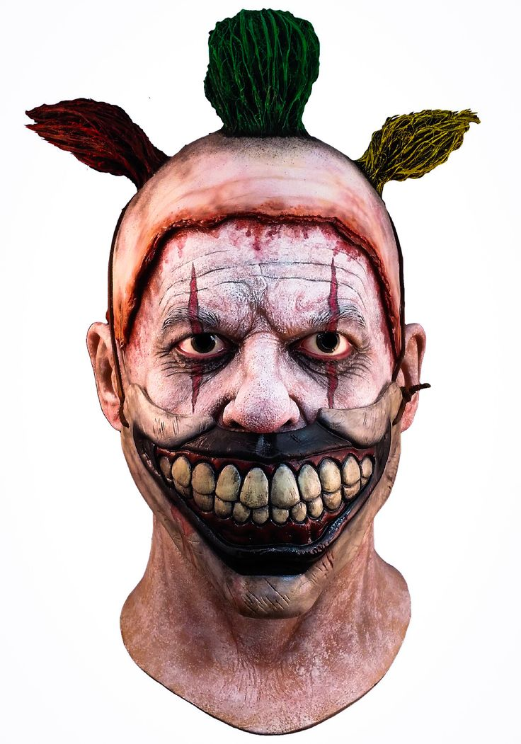 Twisty The Clown Mask (American Horror Story~Freak Show) - $69.99 (£48.50).  This Full Head Deluxe Halloween Mask was sculpted by Russ Lukich & has been personally approved by Mike Mekash, the Lead Special Effects Designer for American Horror Story Freak Show & John Carroll Lynch, the actor who played Twisty The Clown.    http://halloweenasylum.com/american-horror-story-twisty-the-clown-mask.html