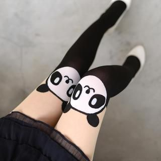 Buy '59 Seconds – Panda Print Two-Tone Tights' with Free Shipping at YesStyle.co.uk. Browse and shop for thousands of Asian fashion items from Hong Kong and more!