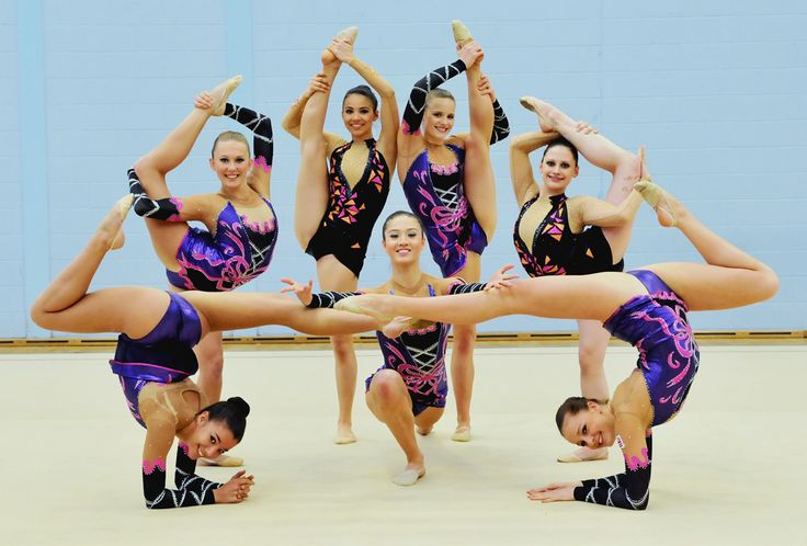 GB Senior Rhythmic Group. Photo by Kevin Fern