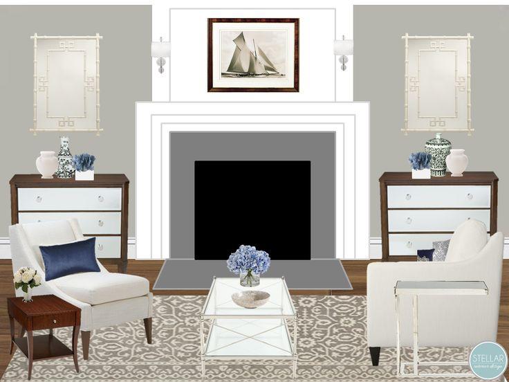 E Design, E Decorating, Online Interior Design Services, Fireplace Mantel,