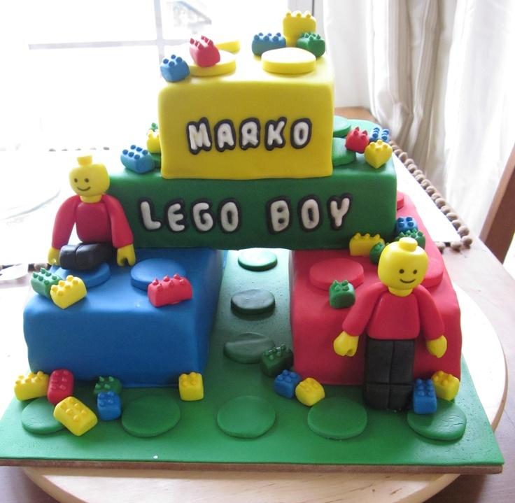 Lego Cake, or this Lydia, I like the stacked blocks.