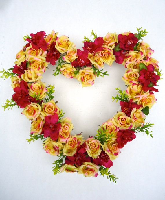 Cemetery Floral Heart Shaped Memorial Remembrance Wreath - Spring Memorial Wreth  About this Product: This stunning heart shaped Styrofoam wreath