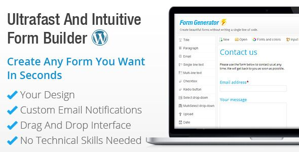 This Deals Form Generator - WordPress Form Buildertoday price drop and special promotion. Get The best buy