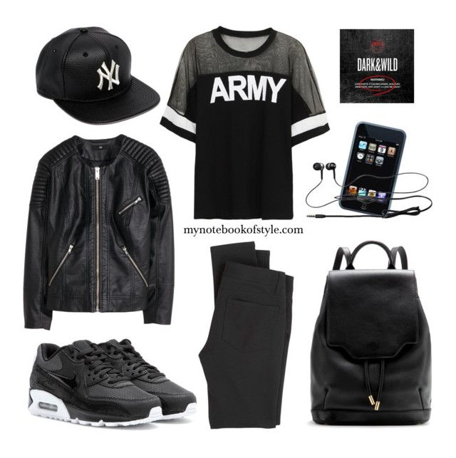 """""""Outfit of the night (listening to BTS's Cypher Pt.3 on repeat)"""" by mynotebookofstyle ❤ liked on Polyvore"""