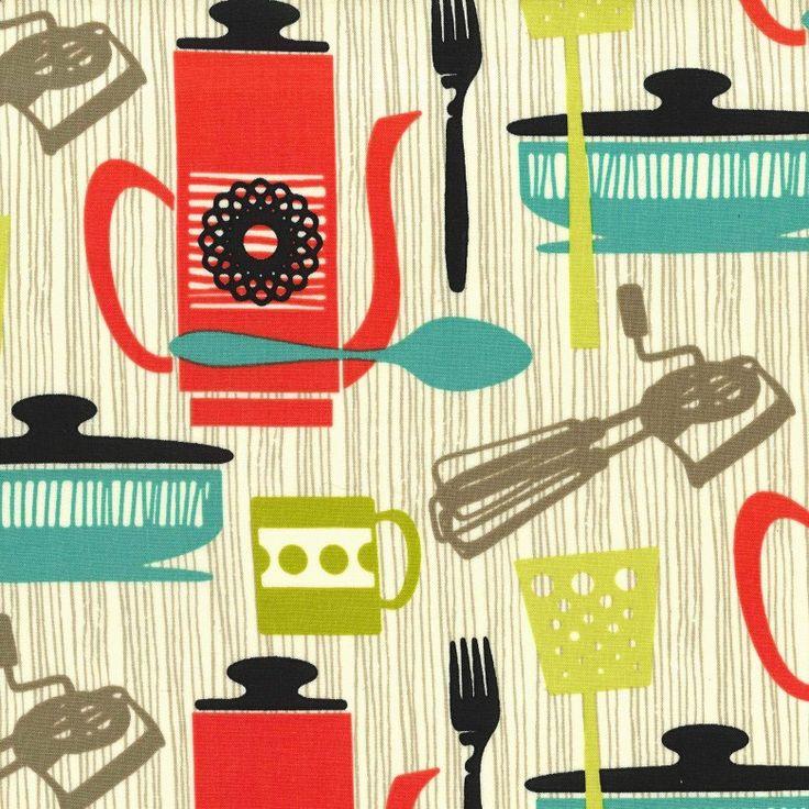 Kitchenette in Vanilla1 yardMichael Miller by freshsqueezedfabrics, $10.00