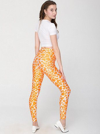 American Apparel - Giraffe Print Nylon Leggings @Leeny Tarnowski yerrrr welcome