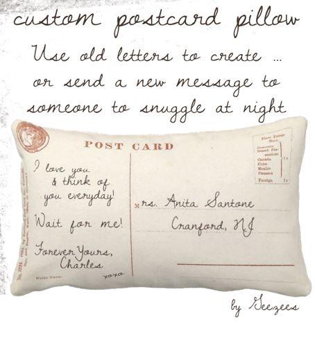 custom postcard pillows!