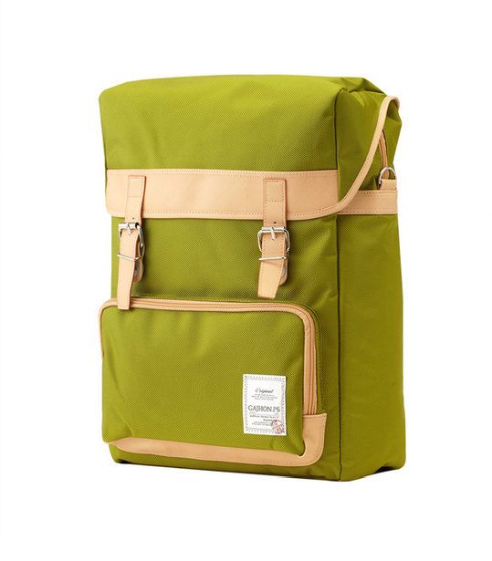 GJ426 Colorful Big Backpack (Yellow Green)