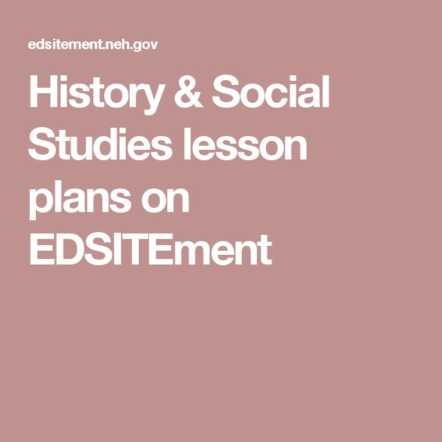 History & Social Studies lesson plans on EDSITEment