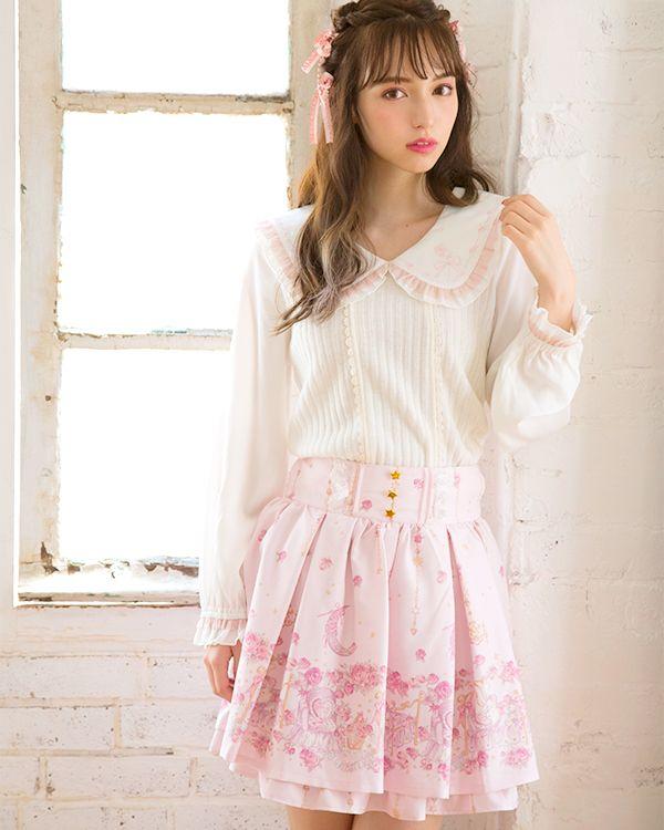 pink jfashion kawaii japan Heart Sweet skirt pants LIZ LISA