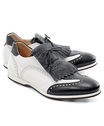 Black-White golf shoes via brooks bros