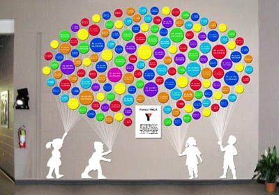 school donor recognition wall | Donor Wall Concepts - Lucite balloon donor wall