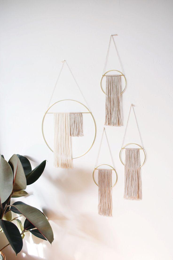 Sonadora Brass Wall Hangings with Bamboo Silk Blend Fiber