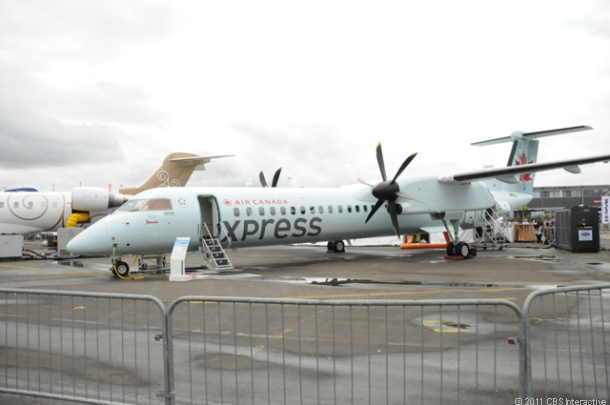 Bombardier Q400 Next Gen, shown here in Air Canada Express livery.