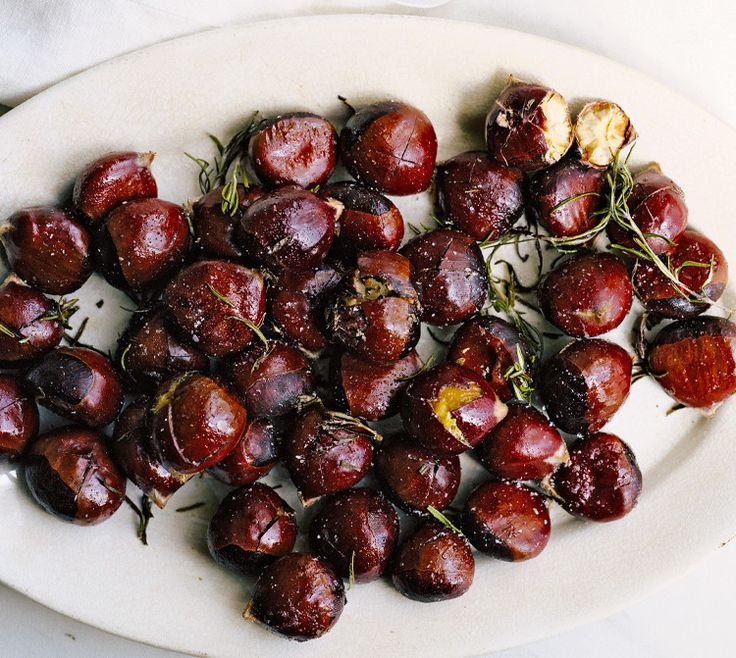 ...so you might not have an open fire, but that doesn't mean you can't have roasted chestnuts! Follow this recipe, and you won't go wrong.