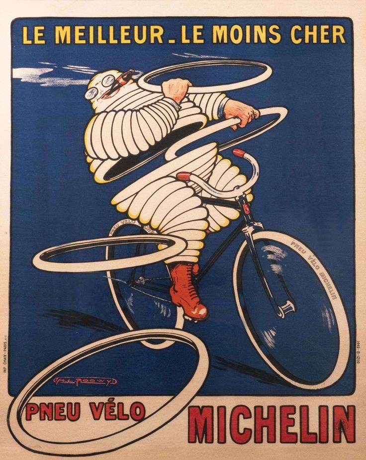 Le meilleur_le moins cher  Pneu velo Michelin  The best - the cheapest  Michelin bicycle tires  1913