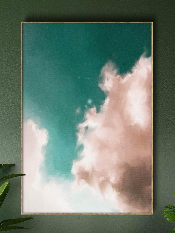"""""""Aurae II"""" Cloud Painting – CORINNE MELANIE ART – …"""