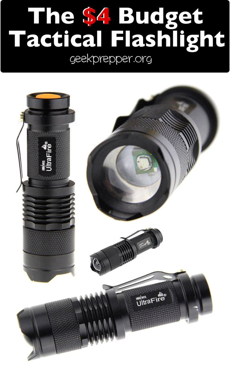 The Mini Cree Led Flashlight is a 4 dollar budget tactical flashlight that produces a searing spotlight from a single AA battery or 14500 battery. GeekPrepper.org