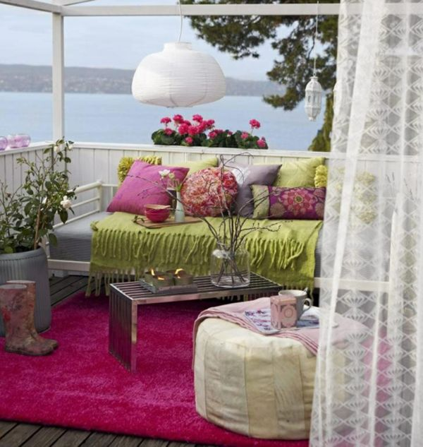20 Colorful Balcony Ideas For Summer