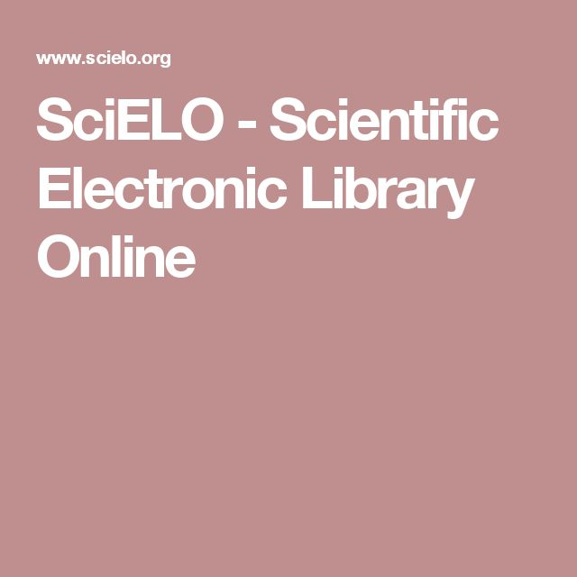 SciELO - Scientific Electronic Library Online