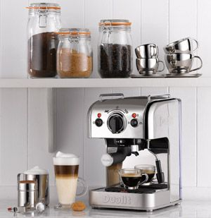 Machine à café expresso 3 en 1 en inox Dualit
