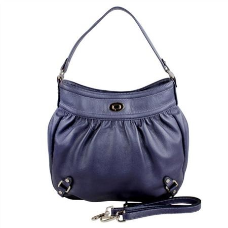 Karla Hanson - Purple Hobo Bag - $199.00/each This Ladies Fashion Crossbody Bag is made from cow leather with a golden finish, approximately 32 x 6 x 33-21 cm. Presented by www.ecomcreator.com