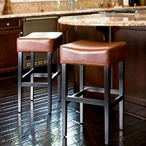 Noble House Rodriguez Backless Bar Stools In Hazelnut (Se... Https:/