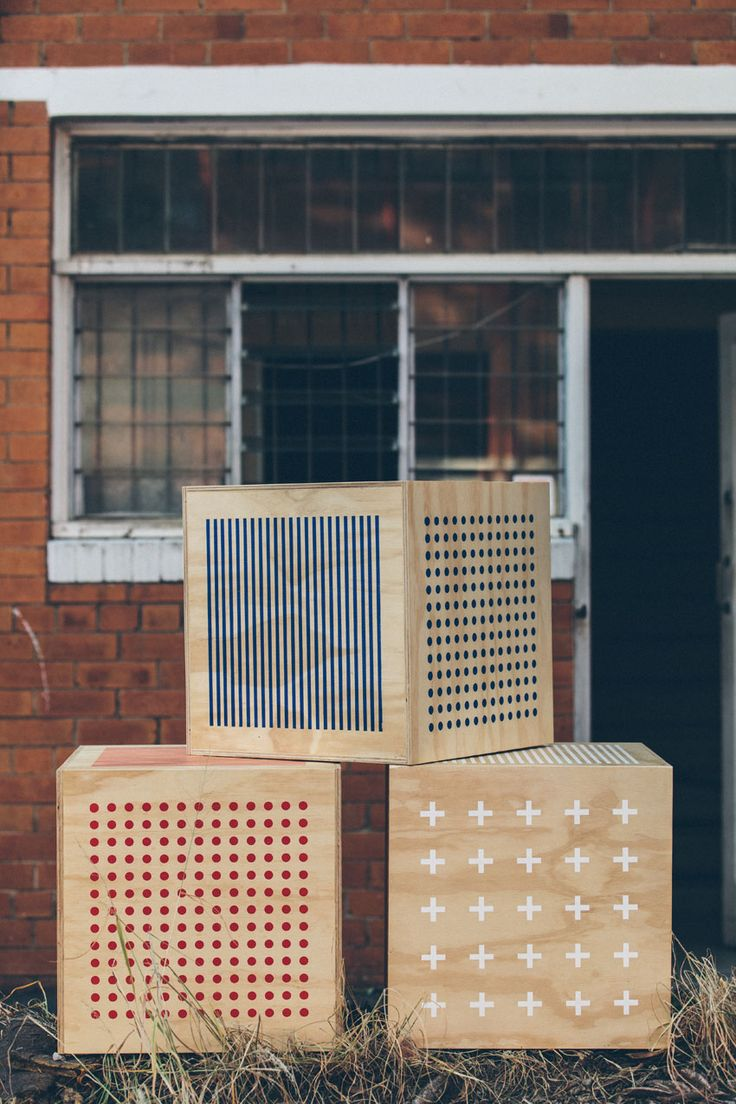 These creative crates by Everingham & Watson have an industrial vibe that mixes well with homey. We don't know how, but we love it!