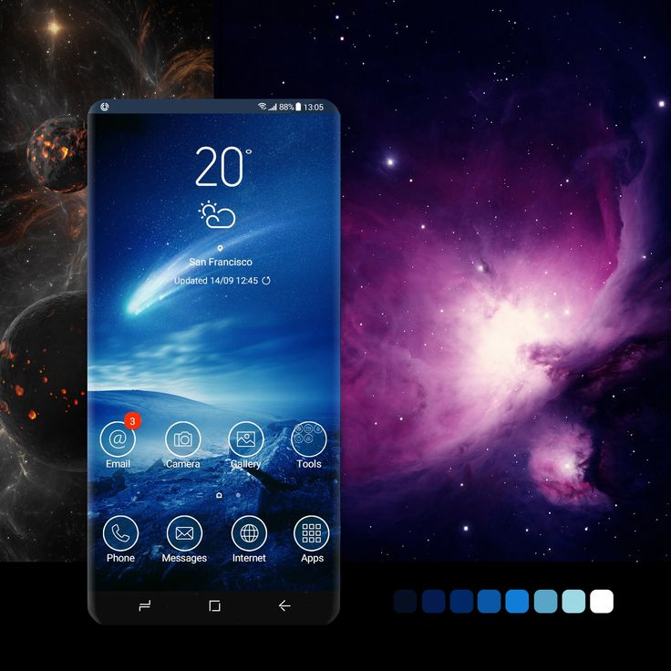 Shooting Star theme wallpaper, android, phone,