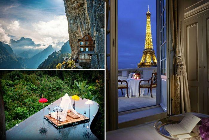 10 необычных отелей.