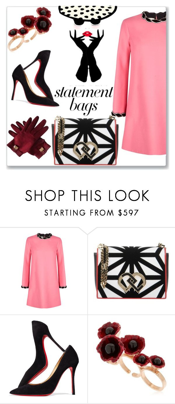 """""""Mrs. Elite"""" by swtcarma ❤ liked on Polyvore featuring Gucci, VERRIER, Dsquared2, Christian Louboutin, Futuro Remoto, Hermès and statementbags"""