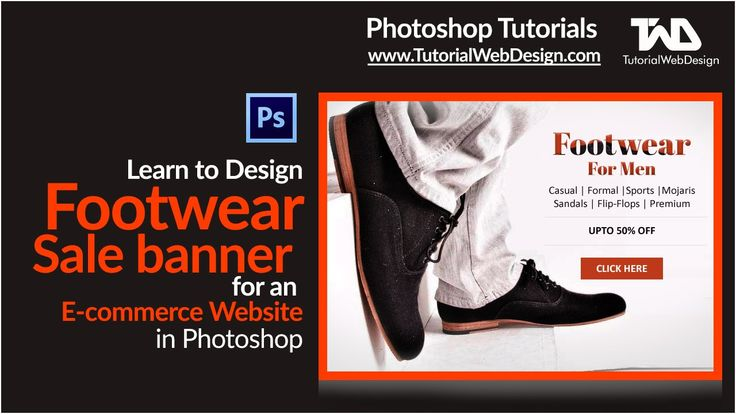 Design Footwear Sale Banner for an Ecommerce Website in Photoshop
