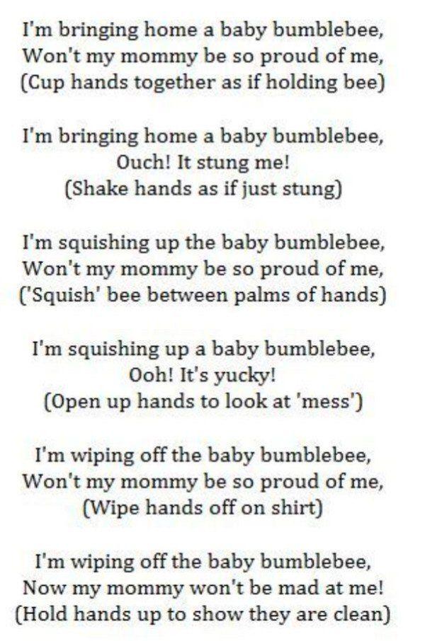 My baby bumblebee lyrics