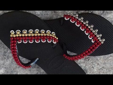 como fazer: chinelo havaiana trama SUPER simples - Adriana Valerio - YouTube