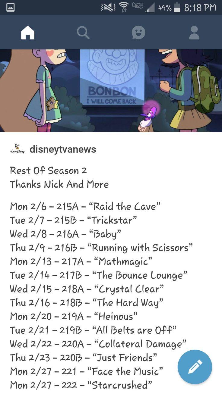 nombre de los episodios de SVLFDM q quedan de la l segunda temporada