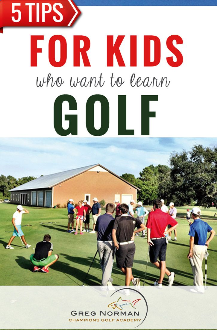 5 golf tips for kids. It is never too early to start practicing golf. If you are child is interested in golf and plans to train for golf, check out these 5 tips.