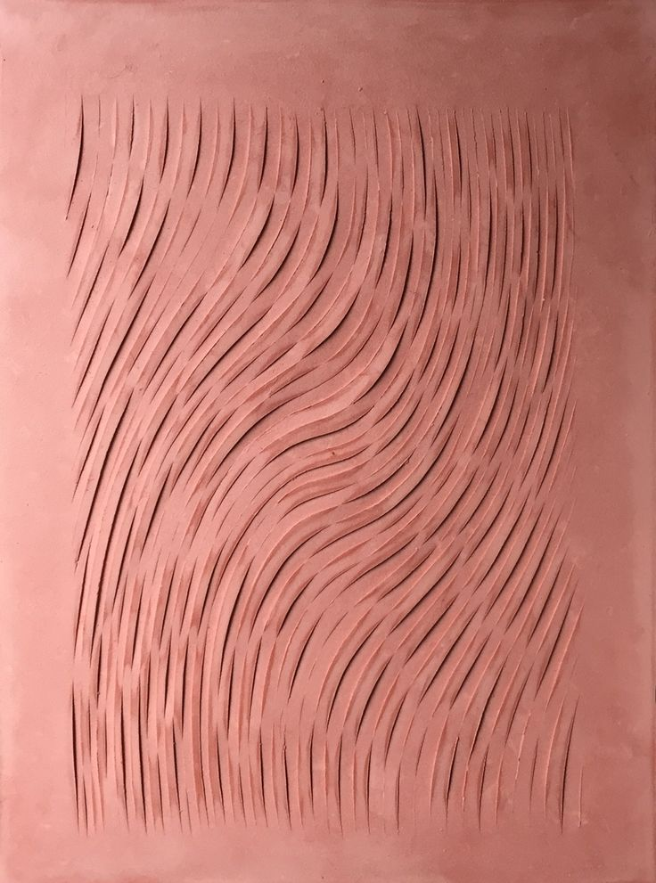 Relief in red plaster by Nicolai Vittrup