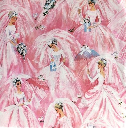 Vintage Bridal Shower Wrapping Paper
