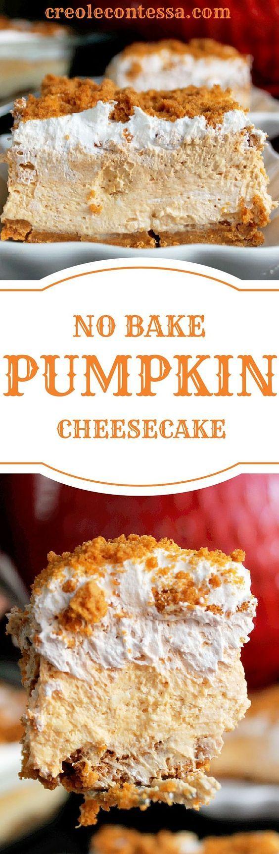 No Bake Pumpkin Cheesecake Lasagna