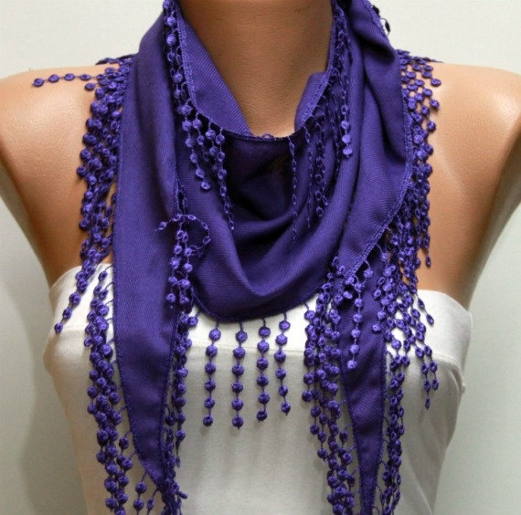Purple Scarf  - by fatwoman, $13.50