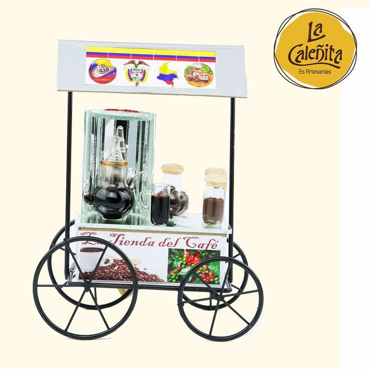 ¿Qué opinas de nuestros carritos de café para decorar nuestra mesa? 😍❤ #LaCaleñita #ArtesaniasLaCaleñita #ArtesaniasDeColombia